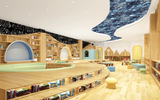 现代幼儿园图书馆 阅览室
