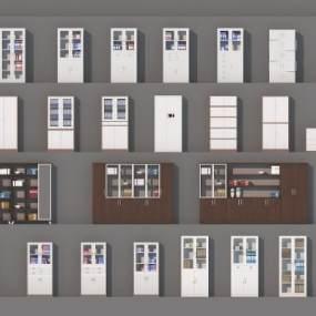 铁皮文件夹杂物柜3D模型【ID:142726844】