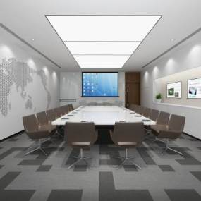 現代會議室3D模型【ID:946535177】