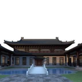 中式四合院3D模型【ID:147521393】