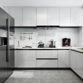 现代简约厨房3D模型【ID:544513340】