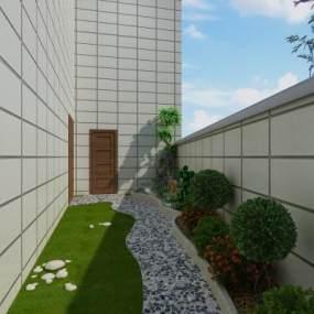 現代后花園3D模型【ID:549187606】