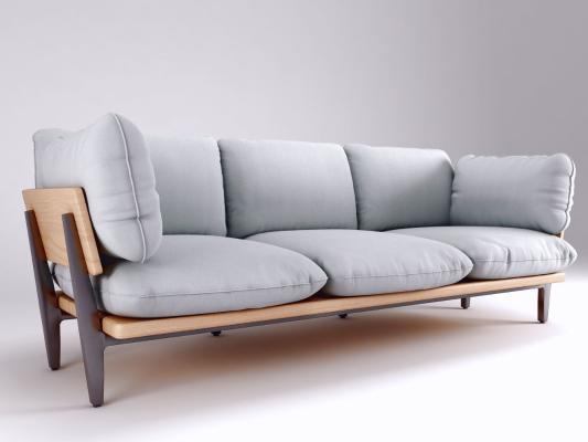 現代沙發模型3D模型【ID:641475603】