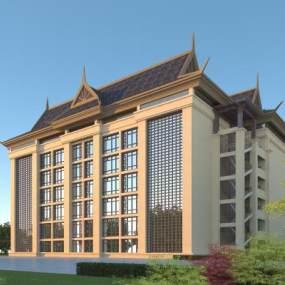 東南亞風格酒店3D模型【ID:146673972】