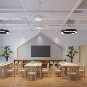 工业风幼儿园教室3D模型【ID:950888660】