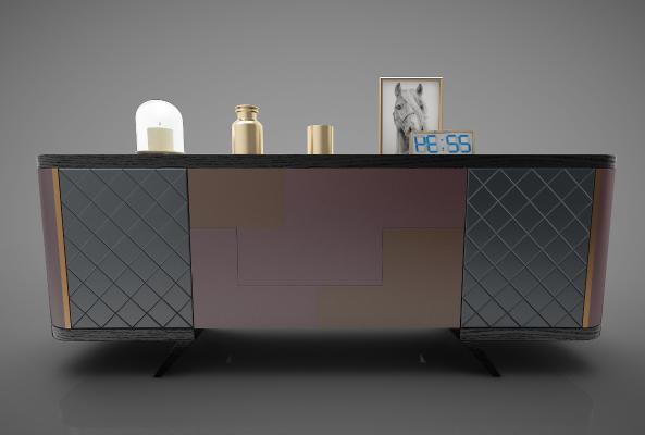 现代风格装饰柜架