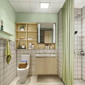 现代简约高端定制公寓3D模型【ID:544405247】