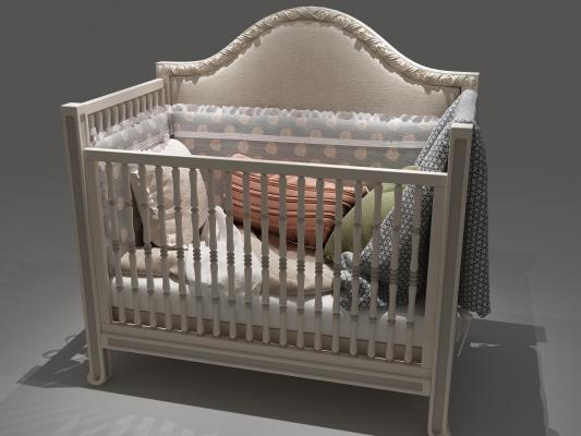 欧式婴儿床3D模型【ID:832468864】