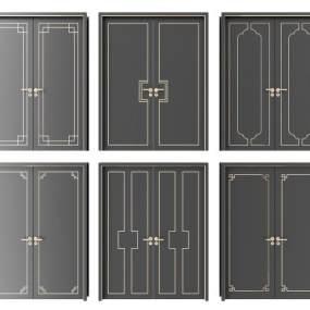 新中式双开门组合3D模型【ID:349331167】