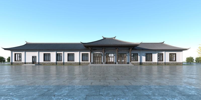 中式四合院3D模型【ID:147267966】