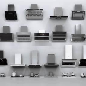 现代油烟机3D模型【ID:233436863】