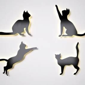現代動物發光墻飾3D模型【ID:252253735】