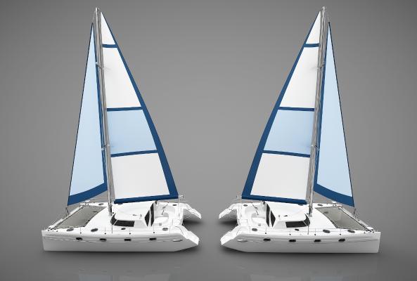 現代風格小船3D模型【ID:443145890】