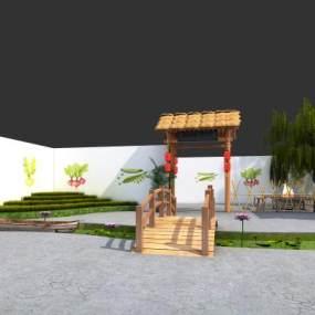 中式展厅3D模型【ID:150364491】
