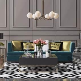 现代轻奢沙发 3D模型【ID:642357704】