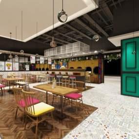 现代餐厅3D模型【ID:650630233】