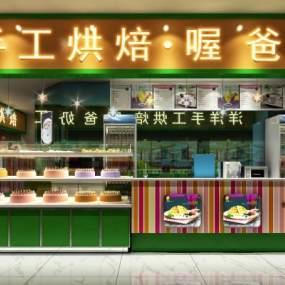 現代甜品店3D模型【ID:634786454】
