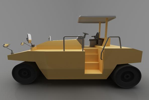現代風格推土車3D模型【ID:443549783】