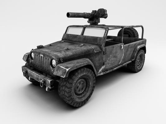 工业风吉普车3D模型【ID:436217729】