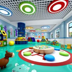 现代幼儿园3D模型【ID:936204650】