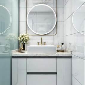 现代风格卫浴柜3D模型【ID:144337714】