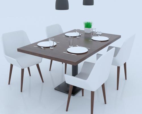 现代风格咖啡桌3D模型【ID:841484810】