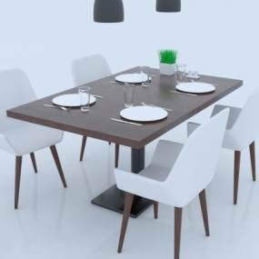 现代风格咖啡桌 3D模型【ID:841484810】