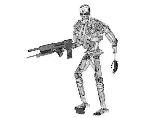 现代变形机器人玩具SU模型【ID:151892201】