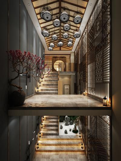 新中式楼梯走廊