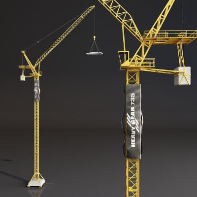 工程塔吊3D模型【ID:440639347】