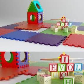 現代嬰兒爬行墊3D模型【ID:347753442】