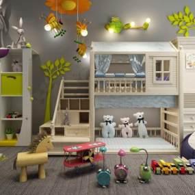 现代儿童房3D模型【ID:834696896】