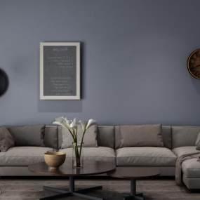 现代组合沙发3D模型【ID:633218726】