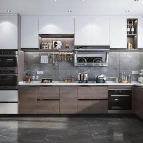 现代风格厨房3D模型【ID:552992397】
