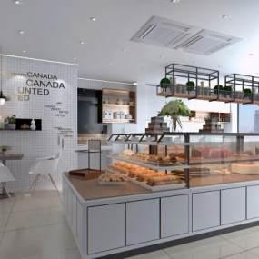 现代甜品店3D模型【ID:634490472】