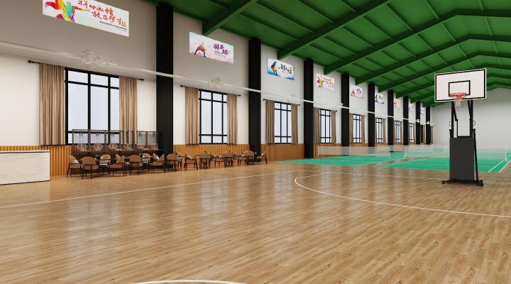 現代羽毛球館3D模型【ID:845220704】
