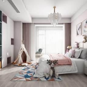 现代儿童房3D模型【ID:534765730】
