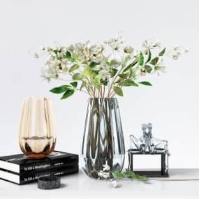 現代臺面桌面花瓶擺設飾品3D模型【ID:249039565】