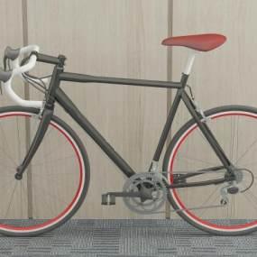 现代自行车单车赛车3D模型【ID:431201666】