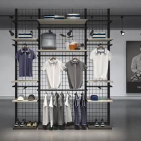 现代服饰货柜3D模型【ID:135356022】