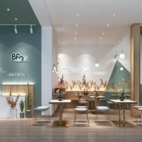 北欧奶茶店3D模型【ID:649290287】