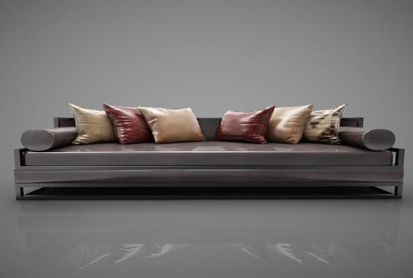 新中式风格沙发3D模型【ID:645479674】