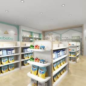 现代母婴店3D模型【ID:953165873】