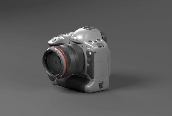 单反相机3D模型【ID:443770444】