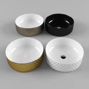 现代洗手盆台盆3D模型【ID:632719499】