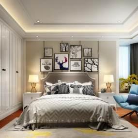 现代卧室3D模型【ID:533564249】