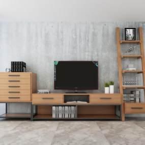 电视柜 3D模型【ID:541626022】