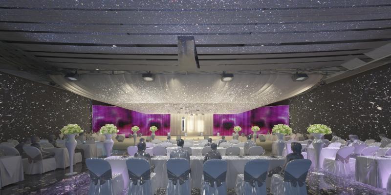 现代婚礼大厅3D模型【ID:732844232】