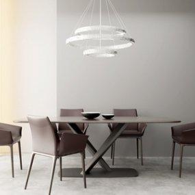 现代餐桌椅组合3D模型【ID:835780818】