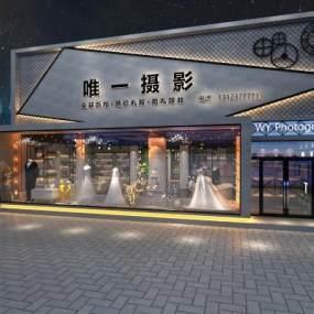 工业风婚纱店3D模型【ID:948925955】